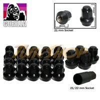20+4 LOCK GORILLA LARGE SEAT OEM OE STOCK WHEELS LUG NUTS 14X1.5 M14 RIMS BLACK