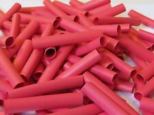 30 x 6.4 red heatshrink 50mm long polyolefin heat shrink tube pack of 30