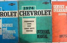 1974 CHEVROLET OVERHAUL MANUAL PASSENGERS CARS + LIGHT DUTY TRUCKS