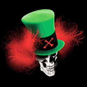 Mad Hatter Skull T Shirt You Choose Style, Size, Color Skull Tee up to 4XL 10194