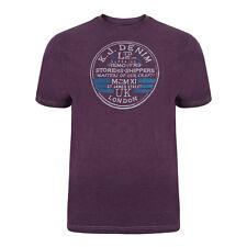 Kam K534 Mens Removers Printed Fashion T-Shirt Lightweight Size M-XXL Purple