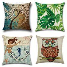 Vintage Linen Cotton Cushion Throw Pillow Covers. 100% Australian Seller