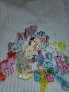 Vintage 1980s My Little Pony - Lot Of 14 Ponies And Accessories sea horse rare
