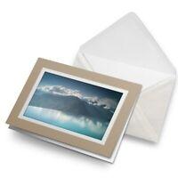 Greetings Card (Biege) - Mountain Infinity Swimming Pool  #21912