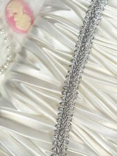 """Silver Metallic Cord Upholstery Sewing Trim 0.375"""" (GB523)"""