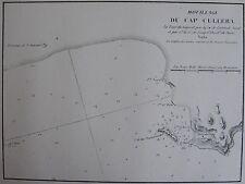 MOUILLAGE DU CAP CULLERA ,1862, GAUTTIER, PLANS PORTS RADES MER MEDITERRANEE