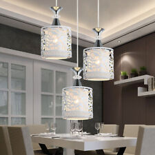 E27 Crystal Adjustable Hanging Pendant Light Ceiling Lamp Vintage Fixture Home