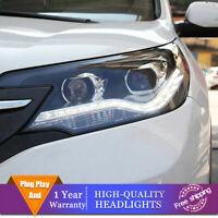 For Honda CR-V 2012-2014 Headlights Double Lens Beam Projector HID LED DRL