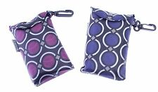 Circles Design Eco Fold Up Shopping Bag For Life Pouch With Clip  ONE AT RANDOM