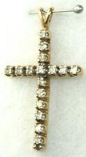 10K GOLD 1/2 .50 CARAT DIAMOND CROSS PENDANT FOR A NECKLACE