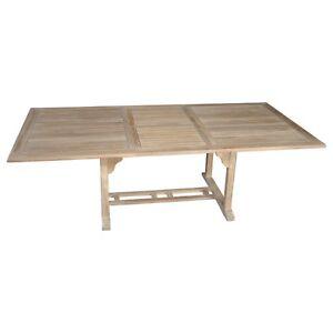NTDT001, Niagara Furniture, Niagara Teak Dining Table 70″- 94″