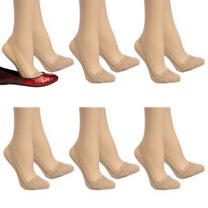 6pk Anne Klein Cute Ladies No Show Socks Womens Slingback Floral Lace Liner
