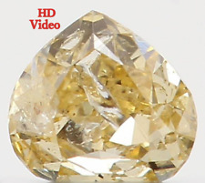 Natural Loose Diamond Yellow Color Heart I2 Clarity 3.00 MM 0.09 Ct KR764