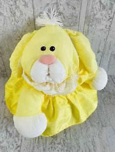 Fisher Price Puffalump Yellow Bunny Rabbit 1986 Vintage Plush Nylon Dress