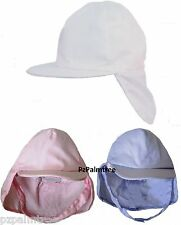 Baby Sun Hat Legionnaire Cap 9 12 18 24m Boy Girl Toddler Neck Flap Chin Strap