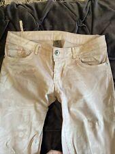 Italian Pink Flower Jeans. Size 8-10