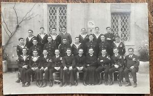 VINTAGE RPPC VIEW OF CREWMEN FROM H.M.S ROYAL OAK CATHOLIC PARTY IN ROME 1928