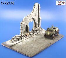 Redog 1/72/76 Ruined Church Street Scale Model Display Base/Small Diorama R3
