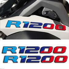 2 Adesivi Serbatoio Moto BMW R 1200 gs adventure Motorsport 28x3 cm 3D resinati