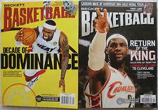 Lot of 2 LeBron James Cleveland Cavaliers / Miami Heat Beckett Magazines