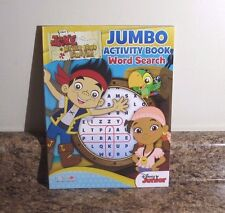 Disney Jake and The Neverland Pirates Word Search Activity Book Preschool NEW