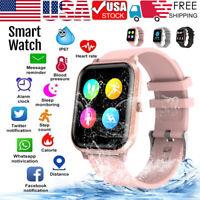 Waterproof IPX7 Bluetooth Smart Watch Blood Oxygen Heart Rate Monitor Bracelet