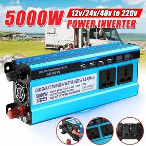 5000W Solar Inverter Power Modified Wave 12V 24V 48V DC 220V AC Car Home Caravan