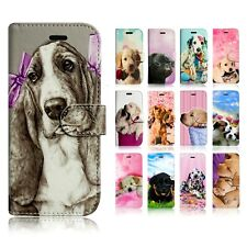 FOR APPLE IPHONE 5S BOOK WALLET LEATHER FLIP FON PHONE SAFE CASE COVER DOG PRINT