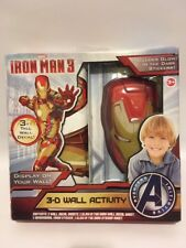 NEW MARVEL IRON MAN 3 - GLOW IN THE DARK 3-D WALL ACTIVITY DECAL B01