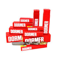 DORMER® HSS TITANIUM NITRIDE COATED A002 JOBBER DRILL BITS - CLEARANCE PRICES