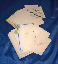 Lot of 98 Different Football Club Soccer Signed Autograph Card Index, Post Cards
