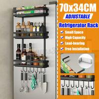 Refrigerator Side Hanger Rack Spice Holder Storage Home Kitchen Tool DIY Home