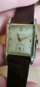 Waltham Square Men's Watch 17j with small second hand and New Band Runs great