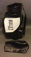 Vintage Bullet Golf Staff Golf Bag Black/White Very Nice w/ Cover