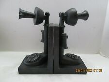 Book Ends Candlestick Telephone Cast Aluminum (6)