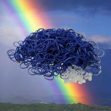 BLUE Color REFILL 600 RUBBER BANDS for Rainbow Loom & 25 clips & Free Shipping