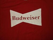 BUDWEISER Red Short Sleeve T Shirt Sz XL Hanes Nano 100% Cotton Red Beer