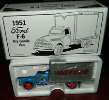 1992 FIRST GEAR 1951 FORD F- 6 NAVAJO Dry Goods VAN NEW IN THE BOX 1:34 Scale