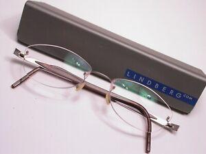 Lindberg Red Titanium Lightweight Modern Eyeglasses Frames Made in Denmark