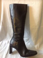 Barratts Black Knee High Leather Boots Size 4