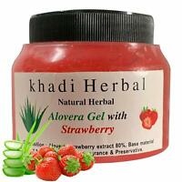Khadi Herbal Aloevera Gel with Strawberry Extract For Skin & Hair - 180 grams