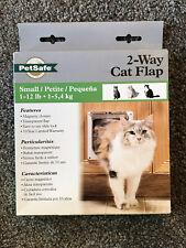 PetSafe 2-Way Cat Flap Indoor Pet Door, Small Petite 1-12 lbs, Magnetic Closure