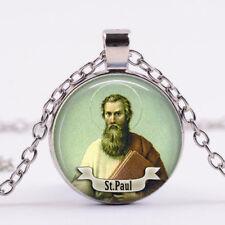 Saint Paul the Apostle Art religious Necklace New Testament Pendant Christian