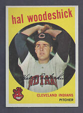 1959 Topps #106 Hal Woodeshick Cleveland Indians NM to NM Plus
