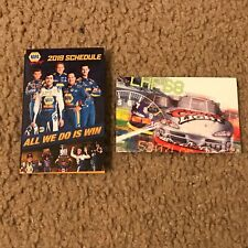 (2) NASCAR Pocket Schedules - 2019 World of Outlaw Series & 2001 Winston Cup