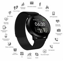 Black Fitness Tracker Step Calorie Counter Heart Rate Blood Oxygen Sleep Monitor