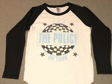 The Police On Tour Junk Food T-shirt long sleeve raglan Large 10 1981 82 83