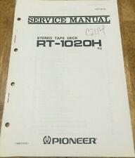PIONEER RT-1020H REEL TO REEL TAPE DECK ORIGINAL SERVICE REPAIR MANUAL
