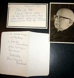 Friedrich Schiller Letters & Documents, Inscr &  SGND by Hans Heinrich Borcherdt