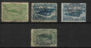 Canada: New Foundland; 1865; Fish, seal, mint and used, EBN070